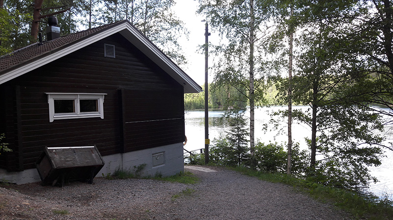 Sauna is located  by the Lake Ahvenisto
