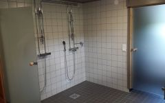 Newly renovated shower area